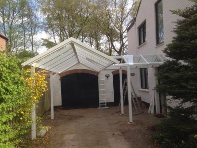Doorloop overkapping en carport
