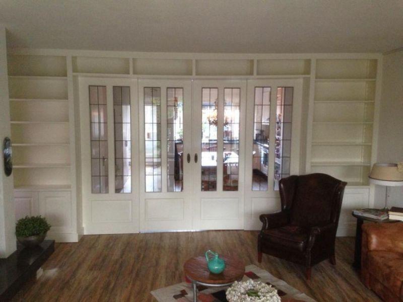 Kamer en suite - Afscheiding glas keuken woonkamer ...